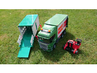 Bruder 1/16th Cargo Lorry & Extra Cattle Box inc Forklift