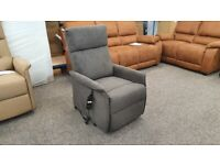 Rise & Recliner - Charcoal Fabric – Single Motor Can Deliver