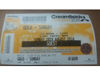 sunday creamfields ticket