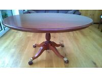 Solid Brazilian Mahogany Dining Table and Chairs.
