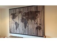 Where in the world have we been map from thrifty decor chick ikea canvas in bethnal green london home garden furniture for ikea large world map for gumiabroncs Images