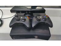 Xbox 360 Slim 250GB\Kinect & 16 games & accessories