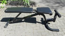 WEIGHTS BENCH WITH VARIOUS SEAT SETTINGS - incline - decline - flat