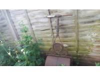 Vintage Antique Cast Iron Garden Roller
