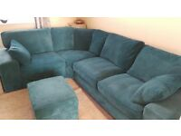 Large Teal Sofology sofa - no damage, excellent condition, smoke and pet free home.