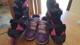 Girls Roller blades and Heelies size 3