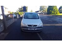 Vauxhall zafira 1.6 , 7 seater in silver