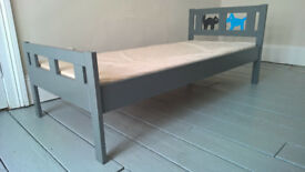 Ikea KRITTER solid pine toddlers bed with mattress