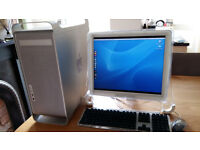 Apple Mac G5 with Adobe design software,19inch monitor, keyboard andmouse