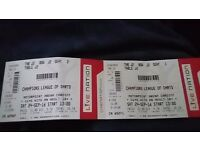2x front table champions league of darts tickets