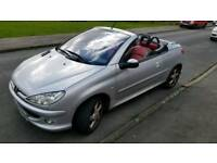 Peugeot 206cc Convertible 1.6 2004 59k Allure Silver excellent condition cabriolet