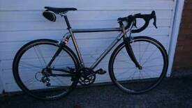 Titanium Carbon Road Bike Bespoke Campagnolo Groupset Zonda Wheels 54 cm
