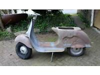 1961 original italian vbb vespa racer project to ported 176cc 10 inch extra wide wheels lots spares