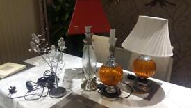 Job lot of gorgeous lamps