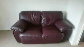 Italian leather chocolate brown sofas