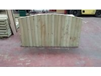 🌟 High Quality Heavy Duty Bow Top Wood Fencing Panels