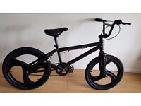 Black BMX with Mag Wheels - 20 inch wheels. (Suit age: 8 to 16 years).