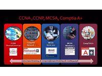 CCNA (R&S), Comptia N+, CCNP (R&S)
