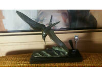 Antique 1930s French Art Deco Seagull Bronze by Irenee Rochard