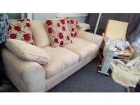 1 Large 3 seater Sofa, 1 large 2 seater sofa bed.