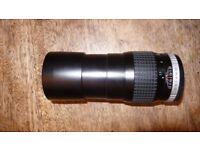 HOYA HMC TELE-AUTO 200mm lens OLYMPUS OM FIT