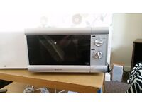 Russell Hobbs silver microwave 800w