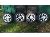 Toyota Avensis mk2 16inch SR alloy wheels + tyres £200