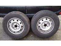 Complete set of 4 Wheels & winter tyres.Yokohama 215/65/15. Peugeot boxer/ducato/relay