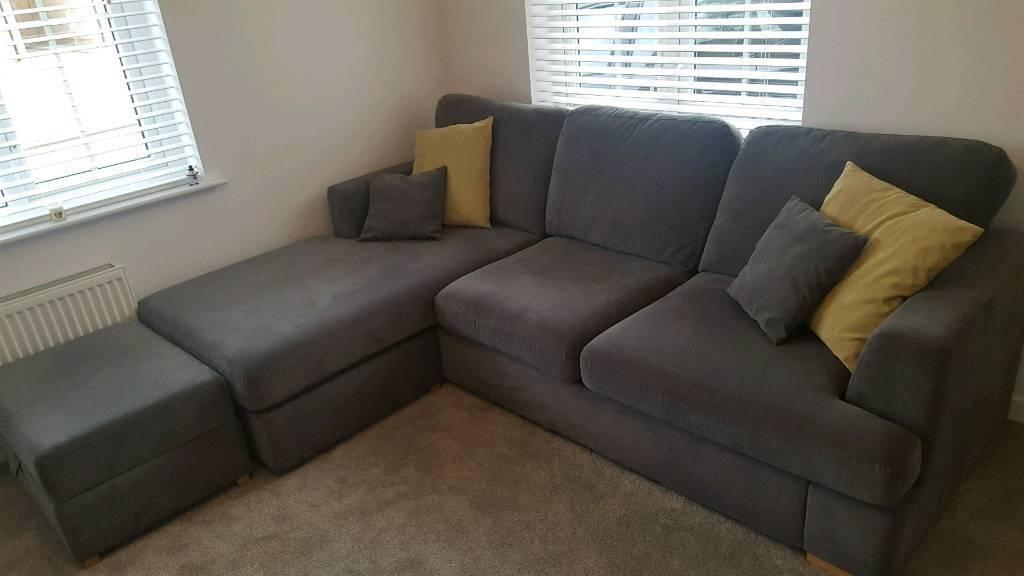 Dfs Freya Corner Sofa Either Side With Storage Footsool