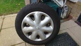 Citroen Picasso Wheel with nearly new Tyre