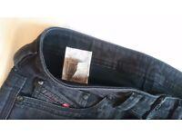 RARE Diesel Thanaz 008IE stretch jeans W 31 32 33 34 L30 slim skinny fit black RRP £160