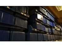 Large Blue Plastic Lin Bins Warehouse / Shop Storage Crates Tubs for Commercial Industrial Use