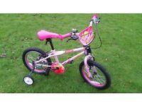 Apollo Roxie Children's Bike + Two Other Bikes + Trail Gator + Stabilisers
