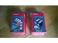 Canon Colour and Black Ink Cartridges 6 & 3e BRAND NEW AND SEALED