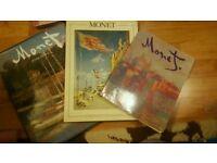 3 Claude Monet books / impressionist art