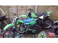 2 crosser bikes (1 kx65 1 kx100 no runners)