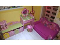 Girls princess bed room play room furniture