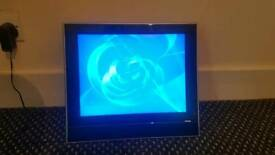 small tv without mount in very good condition with vga ,scart and s-video exit and with dvd.