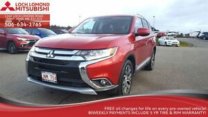 2016 Mitsubishi Outlander W/ 4WD, LEATHER, SUN ROOF and only $24