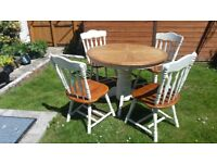 Upcycled on trend table and chairs!