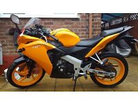 Honda CBR 125 R-F mid 2015 with 1452 miles only.