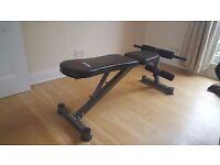 Weight bench + 40 Kg Dumbbells + EZ curl bar