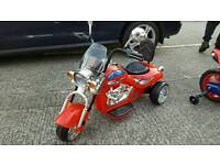 Red electric trike