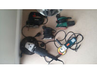 Power Tools - x 2 Sanders + Jig Saw + 4.5 inch grinder + 9 inch grinder - All Low Use
