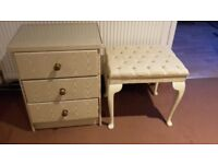 Chest of drawers with stool DELIVERY AVAILABLE