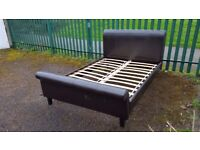 Fantastic Double Leather Bed with Mattress