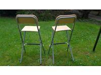 2 stools with backrest foldable IKEA 74cm