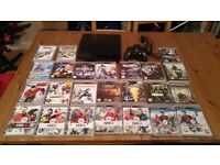 PS3 with 25 games. Very good condition, 1 controller, power lead,.
