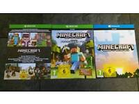 Minicraft game x 3 cards for xbox one
