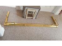 Brass coloured metal Fire Fender, size is adjustable